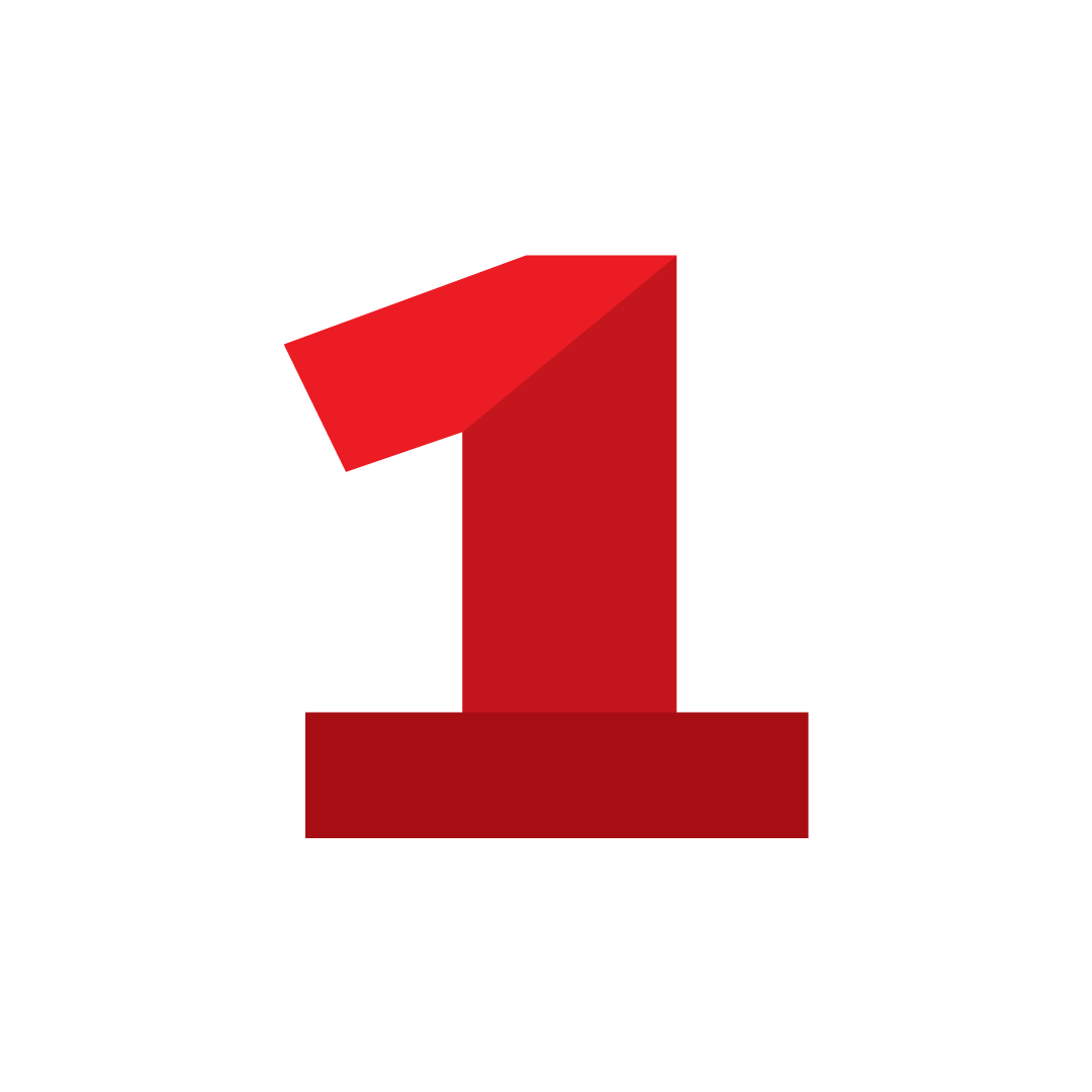 number one icon - symbol