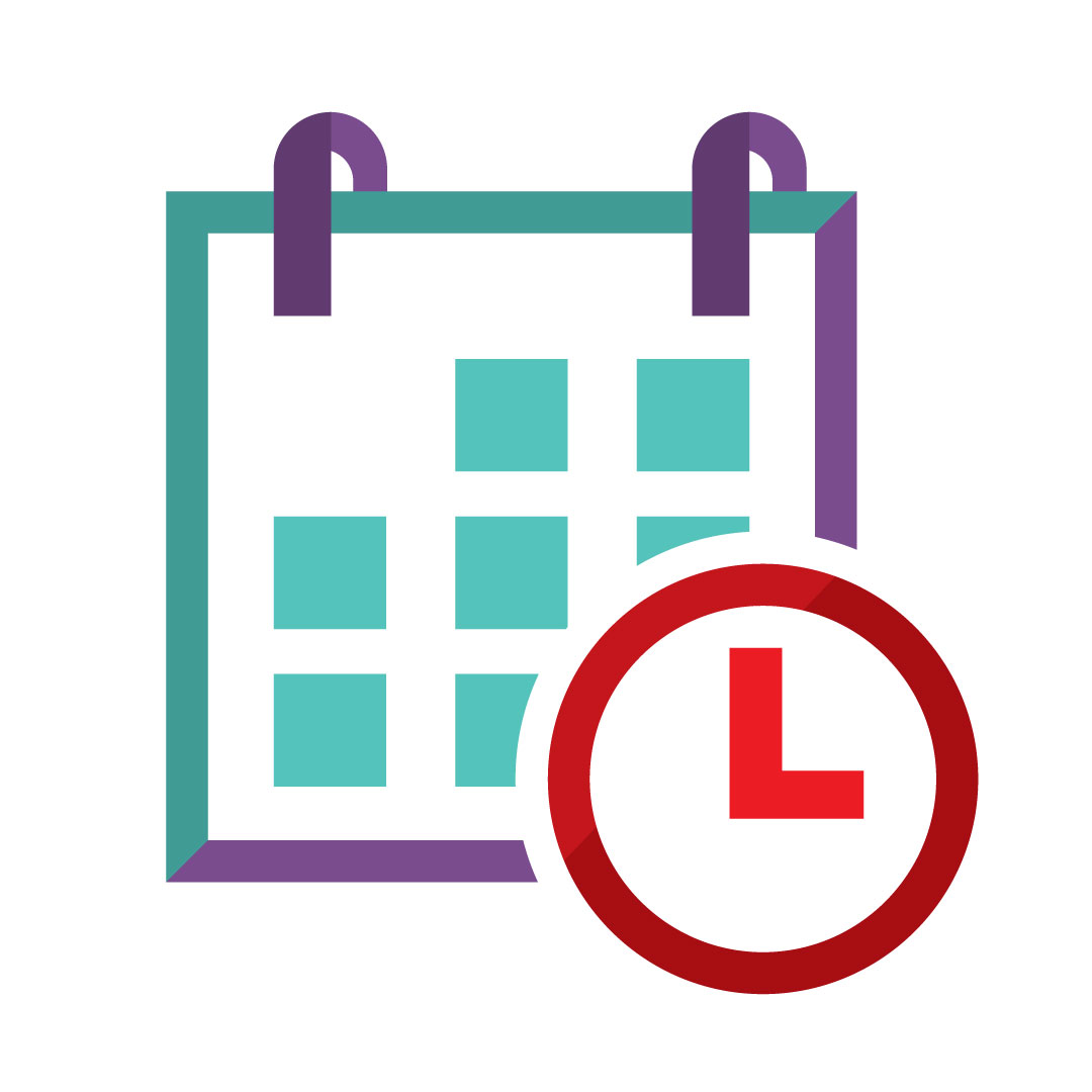 Calendar and time icon image
