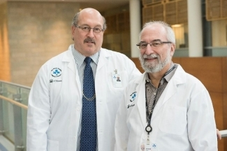 Dr. Mark Freedman (left) and Dr. Harold Atkins. the trial was funded by the MS Society of Canada and its affiliated Multiple Sclerosis Scientific Research Foundation. The research was also supported by The Ottawa Hospital Foundation, The Ottawa Hos