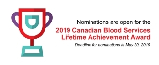 2019 Canadian Blood Services Lifetime Achievement Award